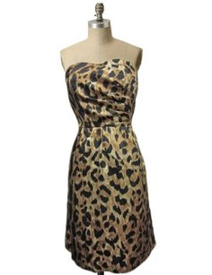 The Limited Strapless Leopard Dress