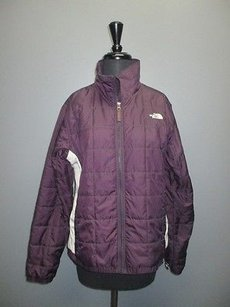 The North Face White Long Sleeve Full Zip Solid Casual 3091 Purple/White Jacket