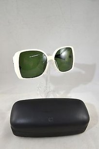 The Row The Row By Linda Farrow White Square Sunglasses W Green Lens
