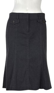 Theory Womens Woven Skirt Gray
