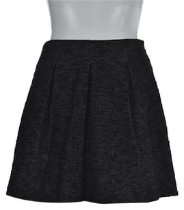 Theory Womens Black Speckled A Line 0 Textured Above Knee Casual Skirt Multi-Color