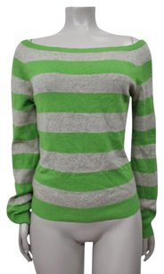 Theory Striped Silk Cashmere Blend Sweater