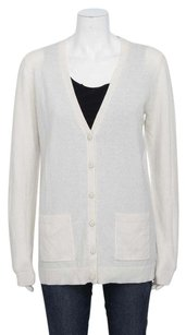 Theory Maira Royal Cashmere Long Sleeve Front Pocket Button Up Cardigan Sweater