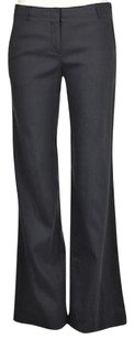 Theory Womens Navy Solid Casual Linen Trousers Bootcut Pants