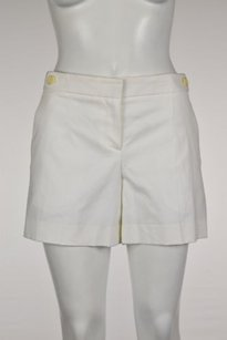 Theory Womens Casual Walking Cropped Trousers Shorts White