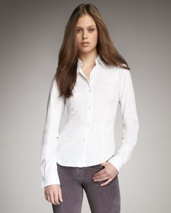 Theory Collared Button Down Shirt White