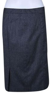 Theory Womens Pinstripe Skirt Gray