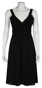 Theory Womens Solid Sheath Sleeveless Above Knee Casual Dress