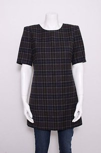 Theory short dress Multi-Color Brown Beige Plaid on Tradesy