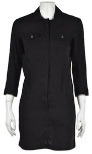 Theory short dress Black Kadrian B Womens Shirt 0 Linen Above Knee on Tradesy
