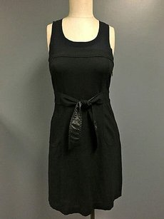 Theory Black Navy Blue Dress