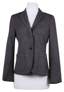 Theory Theory Womens Brown Blazer Med Wool Career Jacket Casual