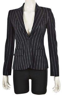 Theory Theory Womens Navy Blazer Striped Wool Wtw Jacket Career
