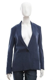 Theory Theory Navy Dark Blue Dalaine Silk Button Pocket Blazer Suit Jacket 4sm