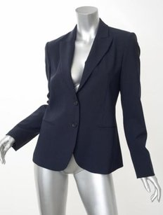 Theory Theory Womens Navy Blue Long-sleeve Two-button Blazer Jacket Coat 6s