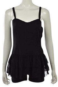 Theory Womens Sleeveless Silk Casual Shirt Top Black