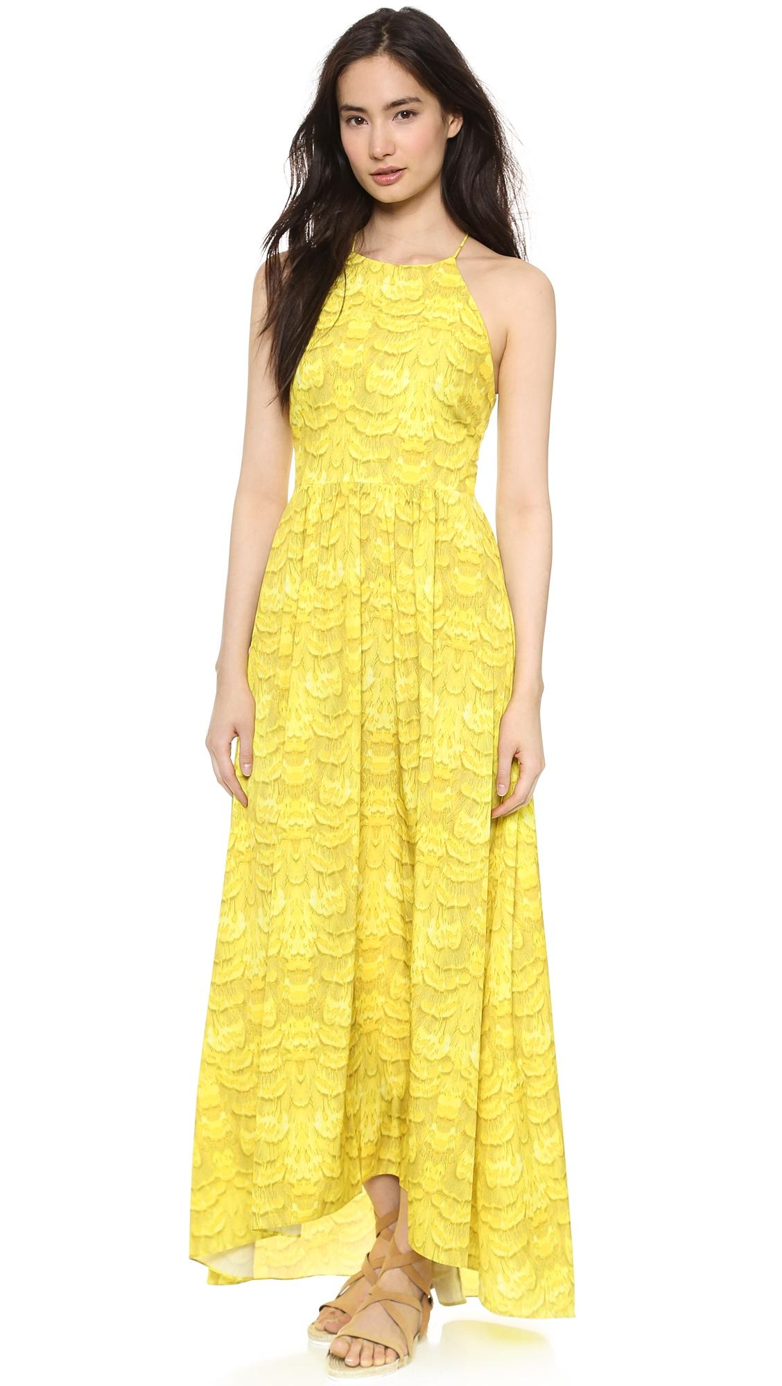Yellow Tibi 'ibis' Strappy Back Maxi - Citrine Maxi Dress on Tradesy