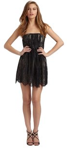 Tibi Imperial Lace Lace Ruched Strapless Flirty Dress