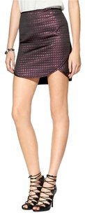 Tibi Mini Jacquard Edgy Hi Lo Mini Skirt Purple, Black