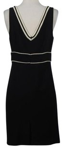 Tibi Womens Wool Striped Sheath Formal Dress
