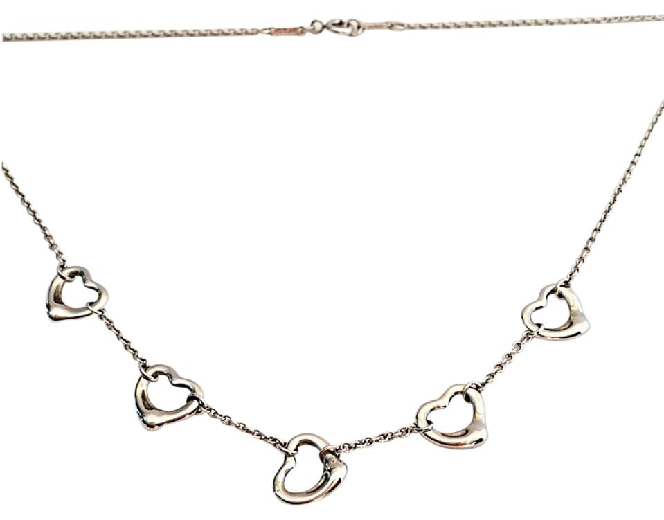 Tiffany & Co. 5 Open Heart Necklace