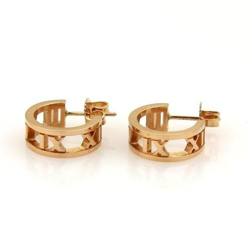 Atlas hoop earrings in 18k rose gold, mini Tiffany & Co.