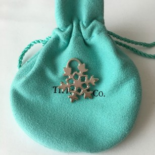 Tiffany & Co. Authentic Tiffany & Co Silver Snow Snowflake Charm Pendant POUCH!!