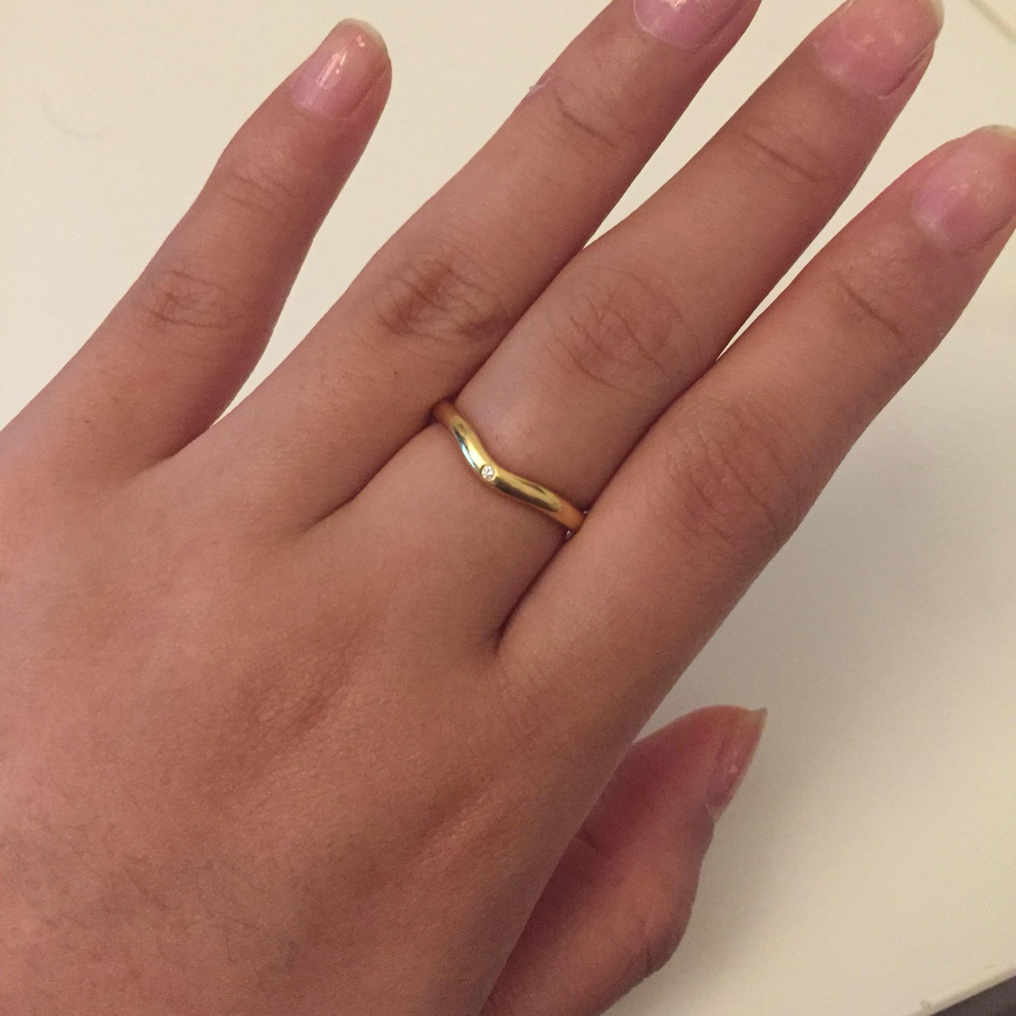 Tiffany Co Gold Elsa Peretti Wedding Band Ring Tradesy