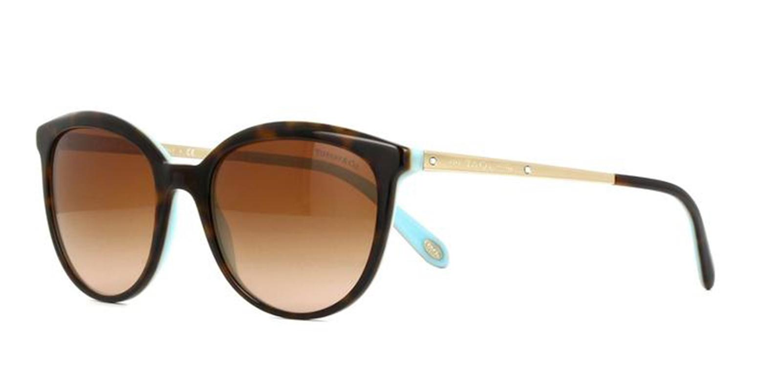 Tiffany TF4117B Sonnenbrille Havanna / Blau 81343B 54mm vWVg61