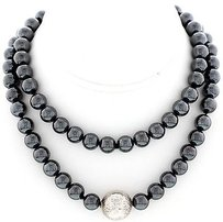 Tiffany & Co. Ladies Vintage Tiffany Co Hematite And Silver Bead Necklace