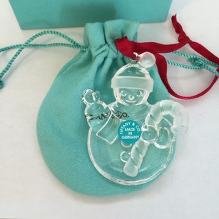 Tiffany & Co. NEW Tiffany & Co. Authentic Crystal Snowman Ornament w/ POUCH & BOX!!