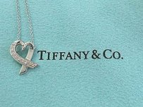 Tiffany & Co. Tiffany,Co,18kt,Paloma,Picasso,Diamond,Heart,Necklace,Wg,.15ct