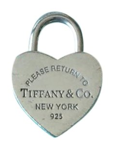 Tiffany & Co. Return to Tiffany silver heart lock (opens and closes) charm