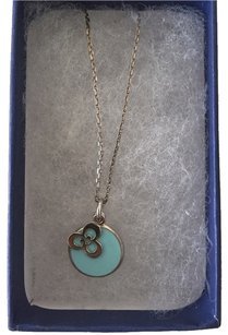 Silver Necklace w/ Turquoise Enamel (Not Tiffanys)