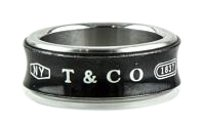 Tiffany & Co. * Sterling silver and titanium Tiffany & Co. 1837 Band.