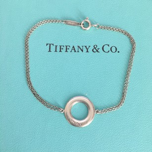 Tiffany & Co. T&CO 1837 Washer Circle Round Double Chain 6.75
