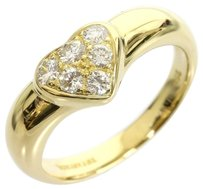 Tiffany & Co. Tiffany 18K Yellow Gold heart diamond ring US SIZE 5.75