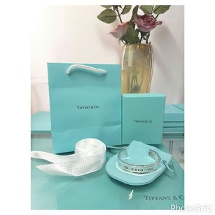 Tiffany & Co. Tiffany & Co 1837 Cuff Bangle Bracelet with box
