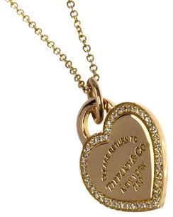 Tiffany & Co. TIFFANY&Co. 18K pink gold Return to Heart Necklace