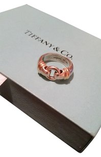 Tiffany & Co. Tiffany & co 925 750 silver & 18k gold ring circle