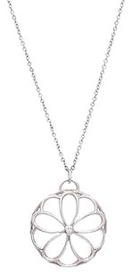 Tiffany & Co. Tiffany Co. Sterling Silver Diamond Garden Medallion Necklace