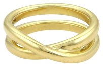 Tiffany & Co. Tiffany Co. Picasso 18k Yellow Gold Crossover X Design Open Band Ring