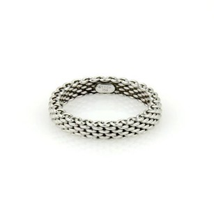 Tiffany & Co. Tiffany Co. Somerset 18k White Gold Mesh Design 3.5mm Bandring