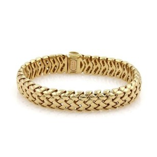Tiffany & Co. Tiffany Co. Vannerie 18k Yellow Gold 12mm Basket Woven Bracelet