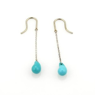 Tiffany & Co. Tiffany Co. Elsa Peretti Sterling Turquoise Teardrop Dangle Hook Earrings