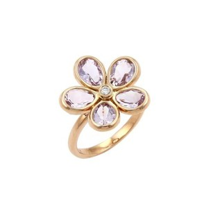 Tiffany & Co. Tiffany Co. Sparklers Flower Lavender Amethyst In 18k Rose Gold Ring-size