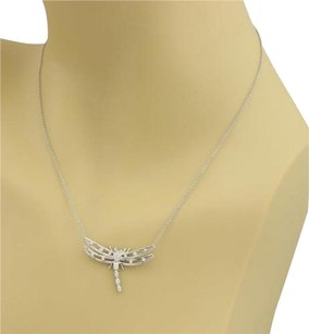 Tiffany & Co. Tiffany Co. Diamonds Platinum Dragonfly Pendant Necklace