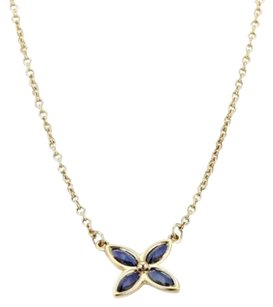 Tiffany & Co. Tiffany Co. Victoria Sapphire 18kt Yellow Gold Floral Pendant Necklace
