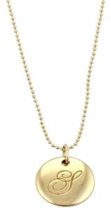 Tiffany & Co. Tiffany Co. Notes 18k Yellow Gold Initial G Round Pendant Bead Necklace