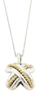 Tiffany & Co. Tiffany Co. X Crossover 18k Yellow Gold Sterling Silver Pendant Necklace